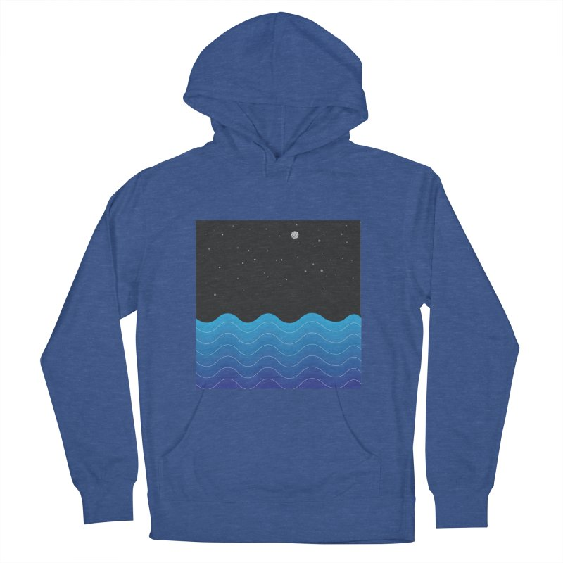 Night Sea Men's Pullover Hoody by Cordelia Denise