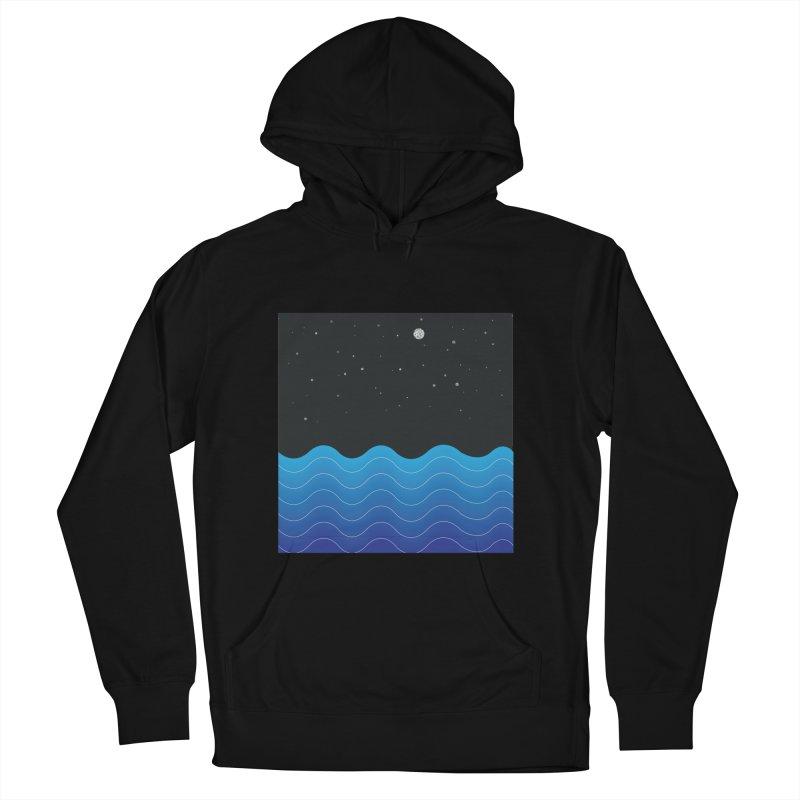 Night Sea Men's Pullover Hoody by Cordelia Denise