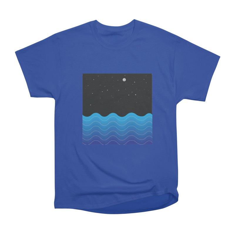 Night Sea Women's Heavyweight Unisex T-Shirt by Cordelia Denise