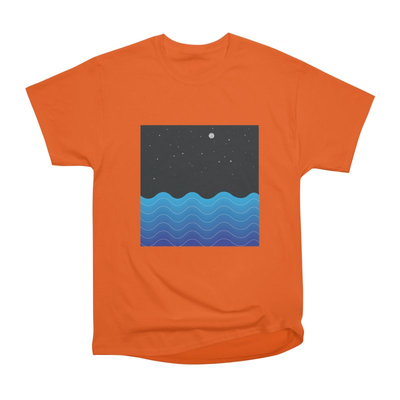 Night Sea Men's Heavyweight T-Shirt by Cordelia Denise