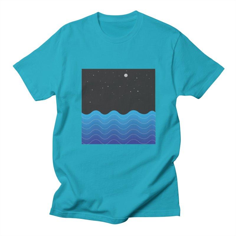 Night Sea Men's T-Shirt by Cordelia Denise