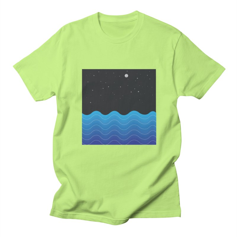 Night Sea Men's T-Shirt by Cordelia Denise