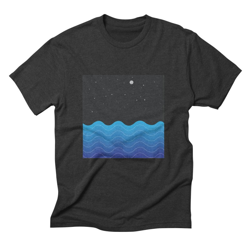Night Sea Men's Triblend T-Shirt by Cordelia Denise