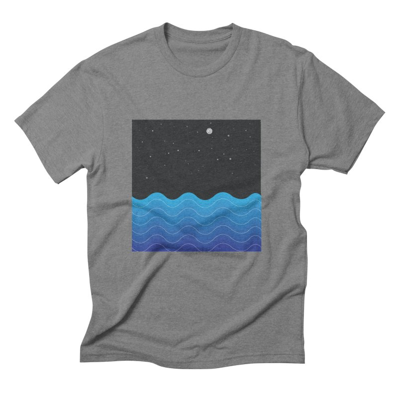 Night Sea Men's Triblend T-Shirt by Cordelia Denise