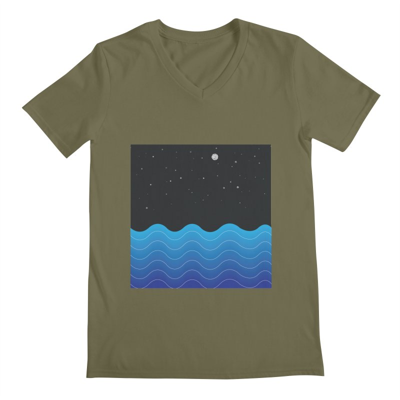 Night Sea Men's V-Neck by Cordelia Denise