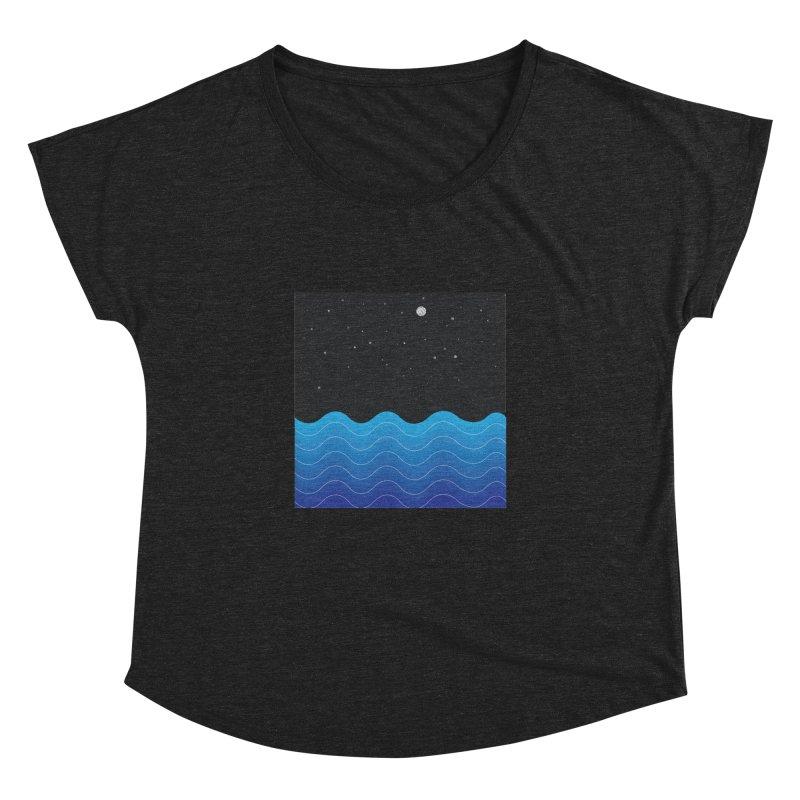 Night Sea Women's Dolman by Cordelia Denise