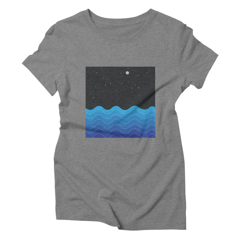 Night Sea Women's Triblend T-Shirt by Cordelia Denise