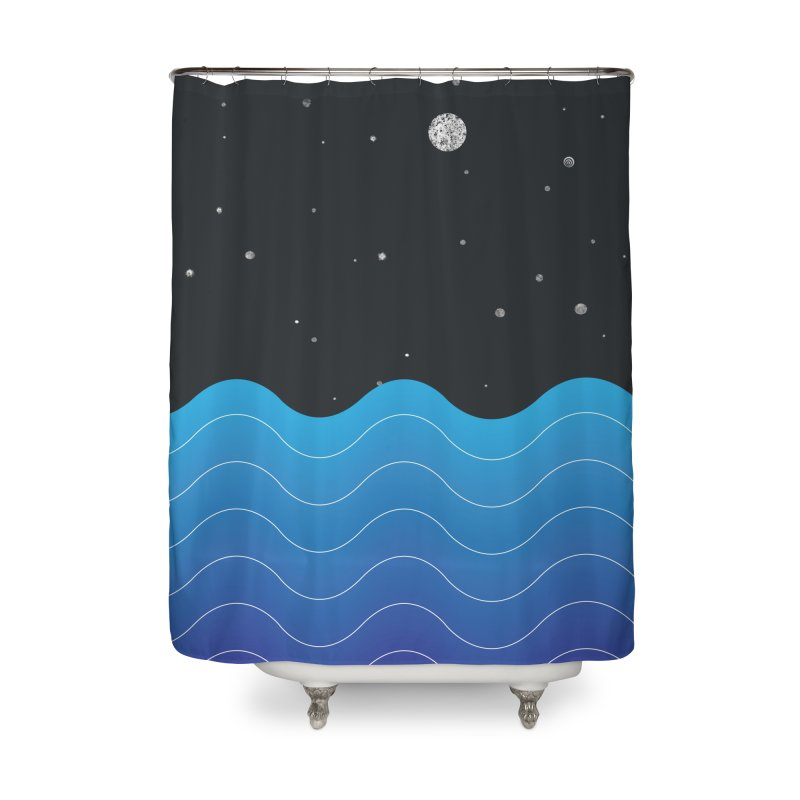 Night Sea Home Shower Curtain by Cordelia Denise