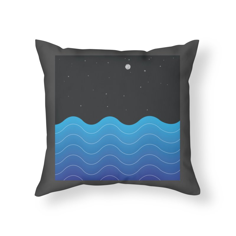 Night Sea Home Throw Pillow by Cordelia Denise