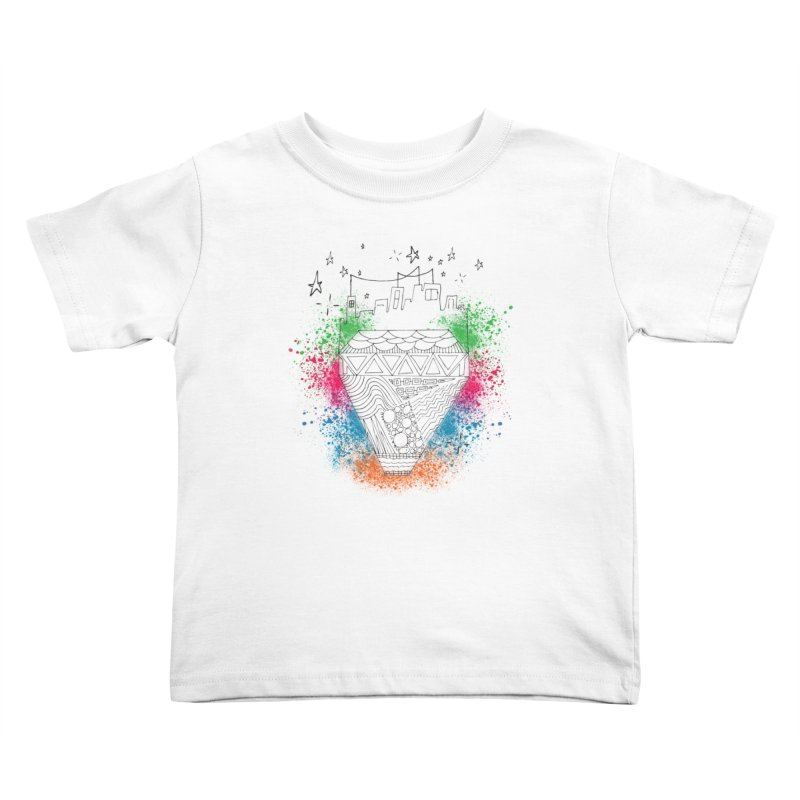 Bling City-Black Kids Toddler T-Shirt by Cordelia Denise