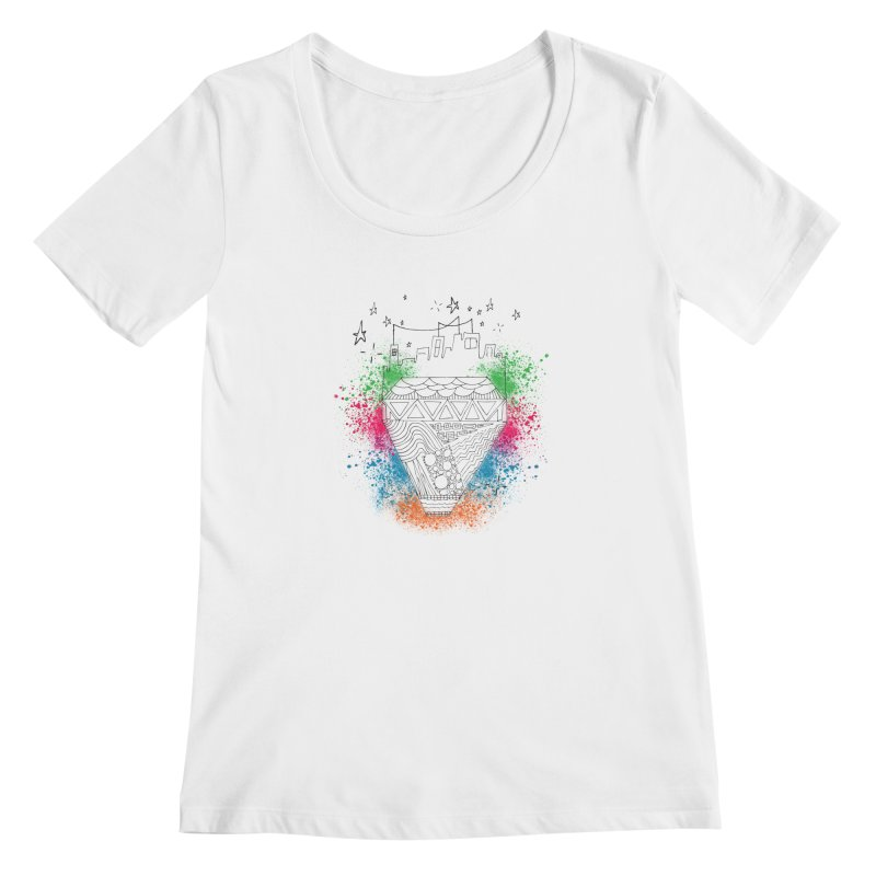 Bling City-Black Women's Scoopneck by Cordelia Denise