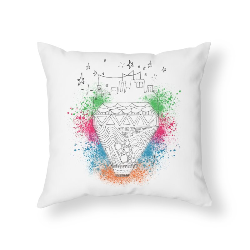 Bling City-Black in Throw Pillow by Cordelia Denise