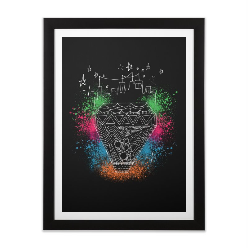 Bling City-White Home Framed Fine Art Print by Cordelia Denise