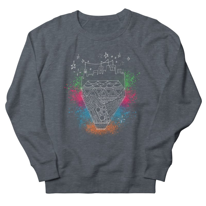 Bling City-White Men's Sweatshirt by Cordelia Denise