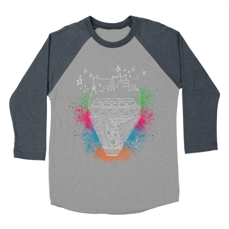 Bling City-White Women's Baseball Triblend T-Shirt by Cordelia Denise