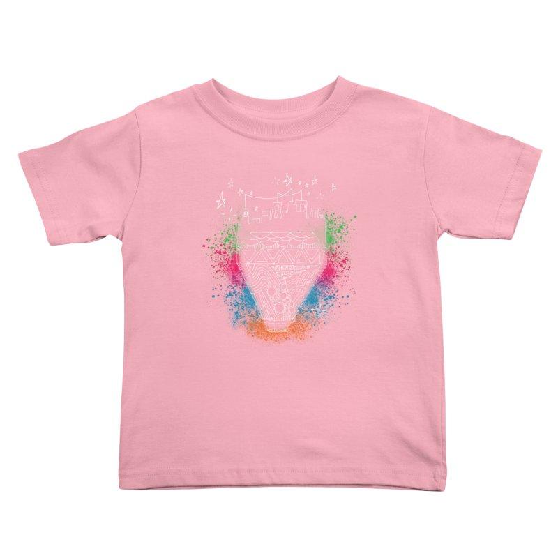 Bling City-White Kids Toddler T-Shirt by Cordelia Denise
