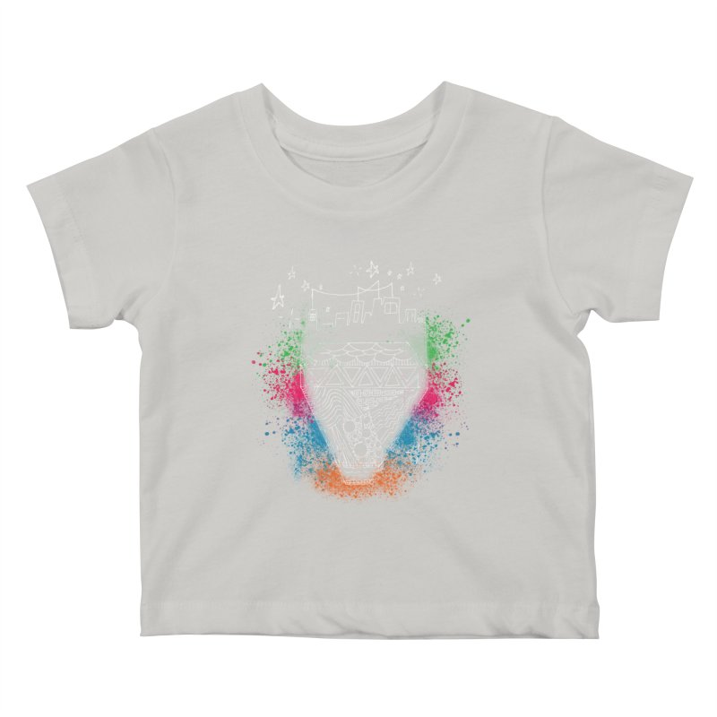 Bling City-White Kids Baby T-Shirt by Cordelia Denise