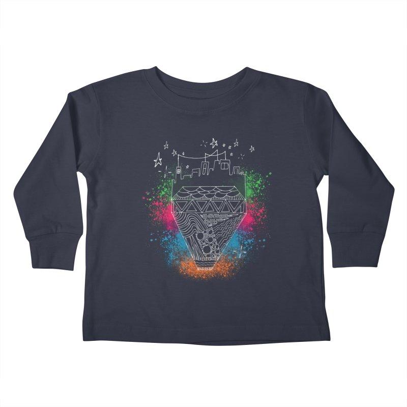 Bling City-White Kids Toddler Longsleeve T-Shirt by Cordelia Denise