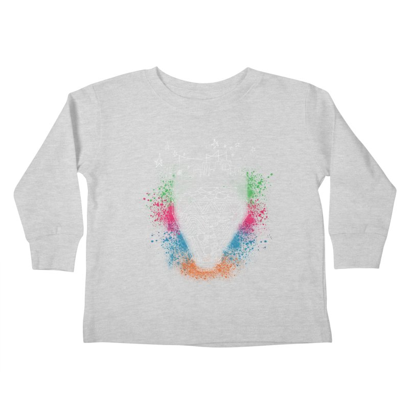 Bling City-White Kids Toddler Longsleeve T-Shirt by Cordelia Denise