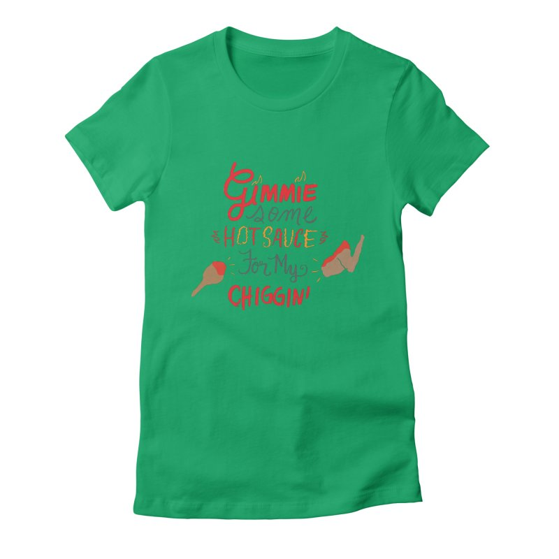 Gimmie Some HS! Women's Fitted T-Shirt by Cordelia Denise