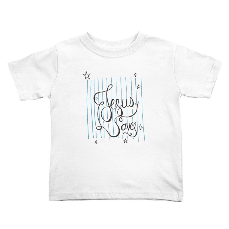 Jesus Saves-Black Kids Toddler T-Shirt by Cordelia Denise