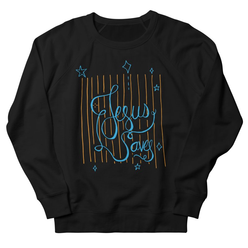 Jesus Saves-Blue Men's Sweatshirt by Cordelia Denise