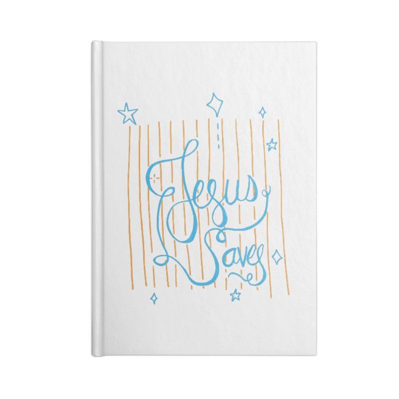 Jesus Saves-Blue Accessories Notebook by Cordelia Denise