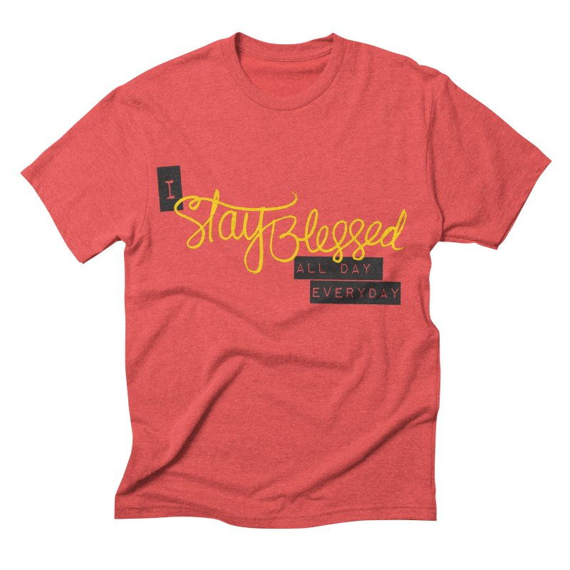 Stay Blessed in Men's Triblend T-shirt Chili Red by Cordelia Denise