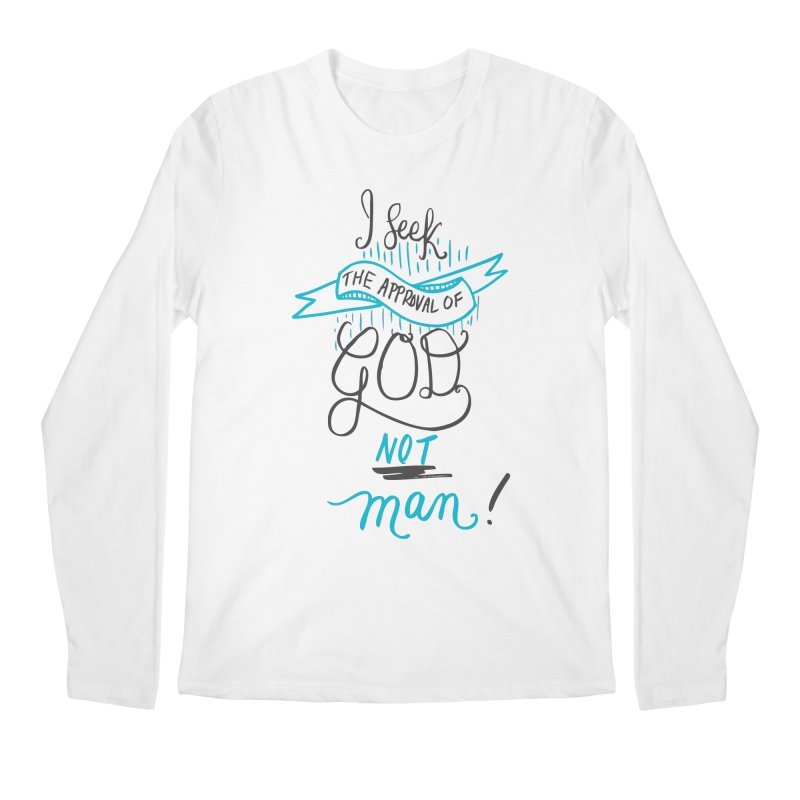 God's Approval-Blue Men's Longsleeve T-Shirt by Cordelia Denise