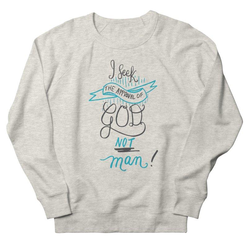 God's Approval-Blue Men's Sweatshirt by Cordelia Denise