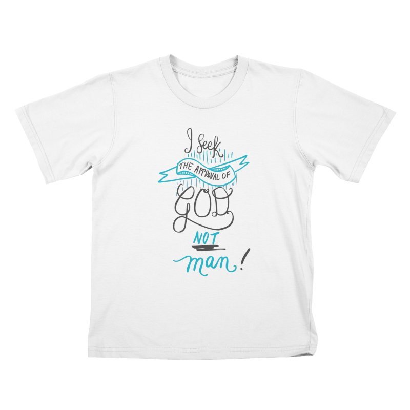 God's Approval-Blue Kids T-Shirt by Cordelia Denise