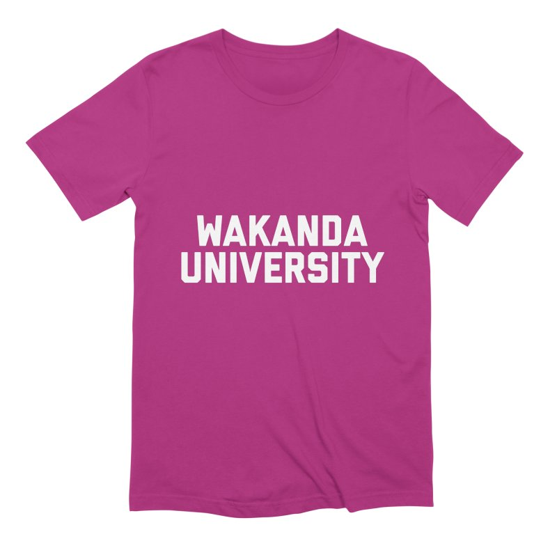 WAKANDA UNIVERSITY Men's Extra Soft T-Shirt by Coreyography
