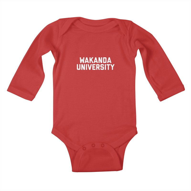 WAKANDA UNIVERSITY Kids Baby Longsleeve Bodysuit by Coreyography