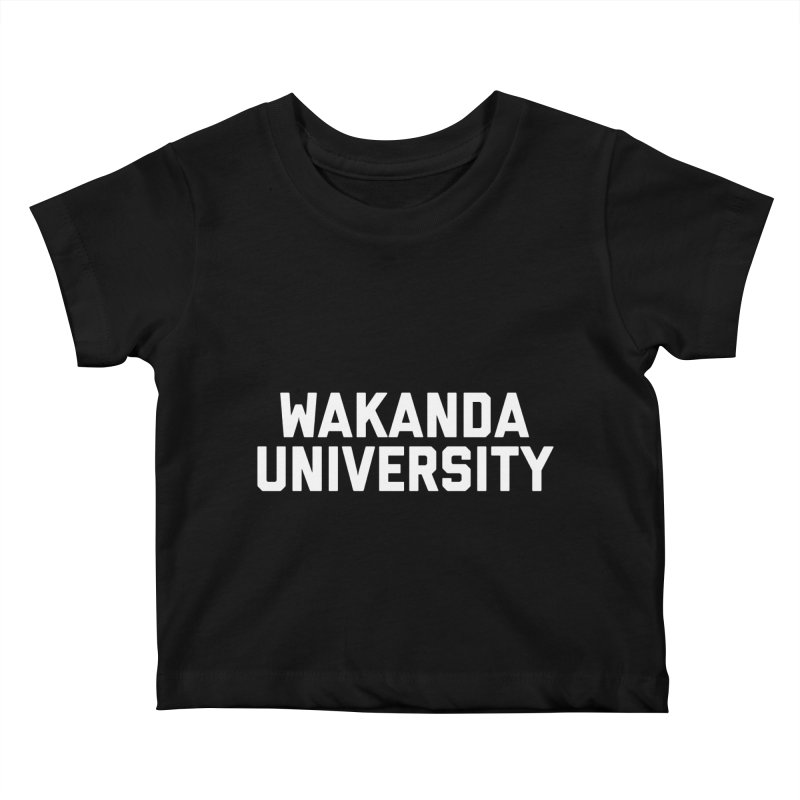 WAKANDA UNIVERSITY Kids Baby T-Shirt by Coreyography