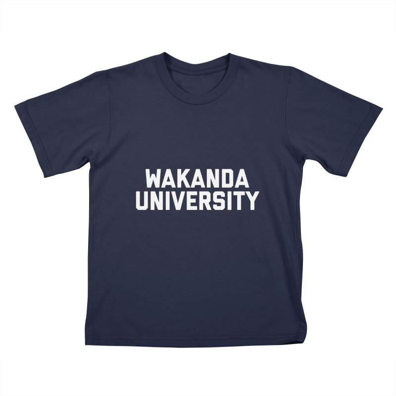 WAKANDA UNIVERSITY Kids T-Shirt by Coreyography