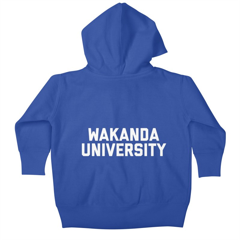 WAKANDA UNIVERSITY Kids Baby Zip-Up Hoody by Coreyography
