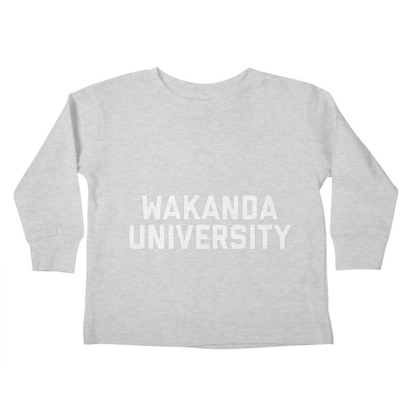 WAKANDA UNIVERSITY Kids Toddler Longsleeve T-Shirt by Coreyography