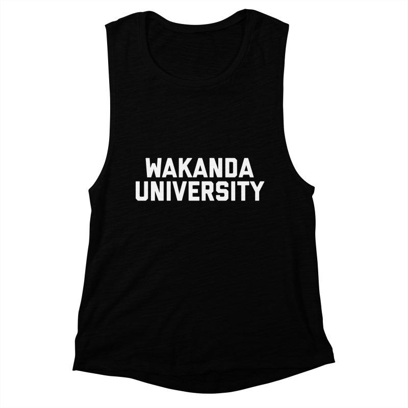 WAKANDA UNIVERSITY Women's Muscle Tank by Coreyography