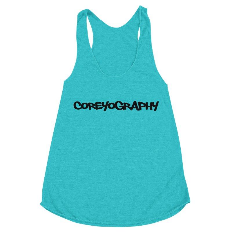 COREYOGRAPHY SWAG Women's Racerback Triblend Tank by Coreyography