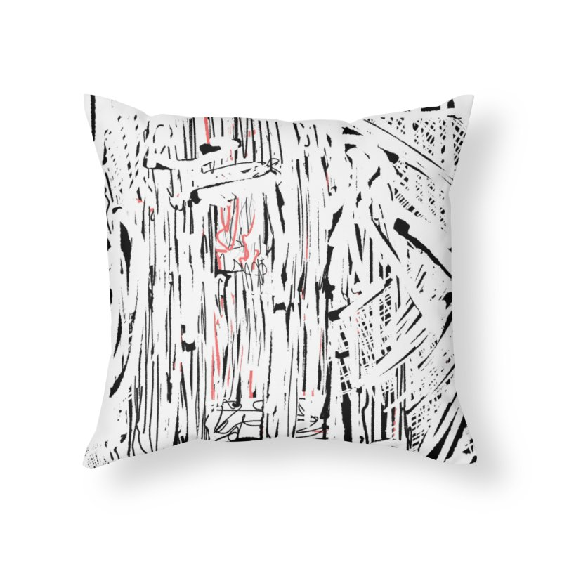 Measuring Zebrafish with a Sliderule Home Throw Pillow by Abstract Bag Company