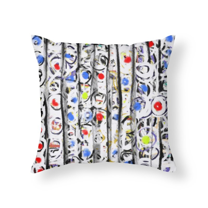 Gumballs and Dentures Home Throw Pillow by Abstract Bag Company