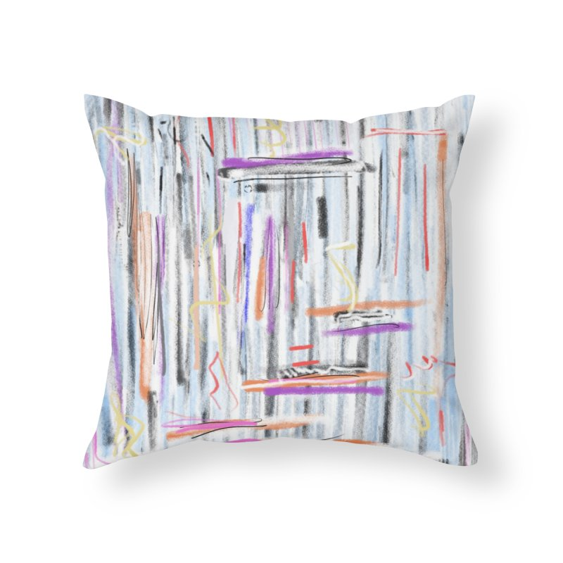 Lines for Mario Home Throw Pillow by Abstract Bag Company