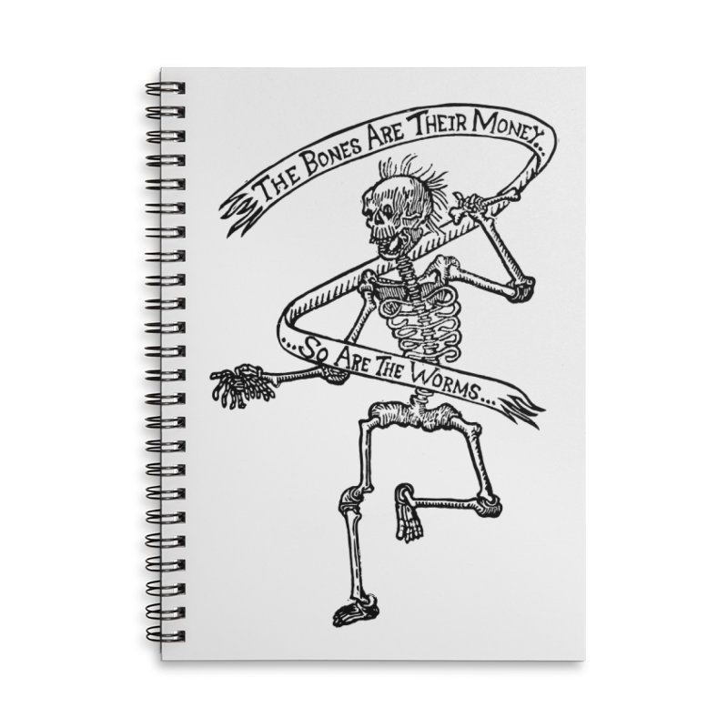 The Night the Skeletons Came to Life Accessories Lined Spiral Notebook by The Corey Press