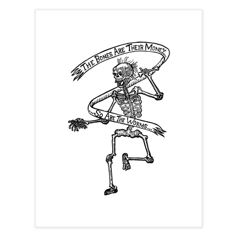 The Night the Skeletons Came to Life Home Fine Art Print by The Corey Press