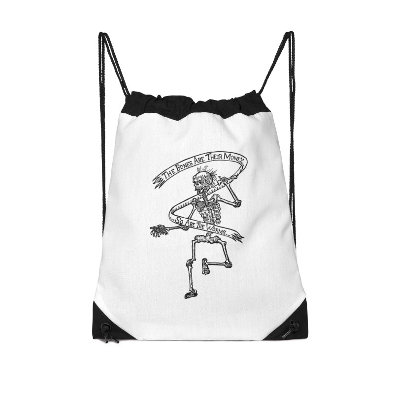 The Night the Skeletons Came to Life Accessories Drawstring Bag Bag by The Corey Press