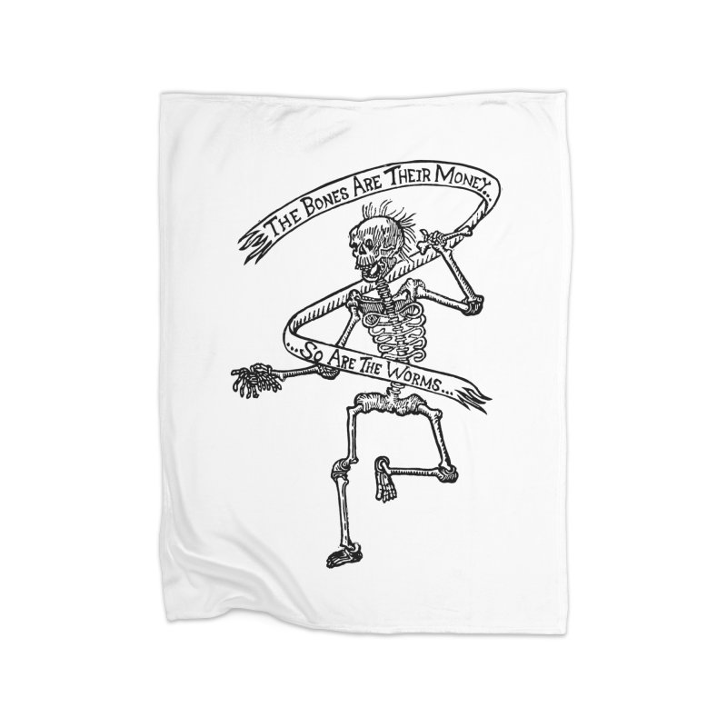 The Night the Skeletons Came to Life Home Blanket by The Corey Press
