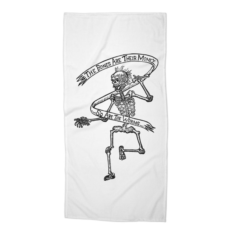 The Night the Skeletons Came to Life Accessories Beach Towel by The Corey Press