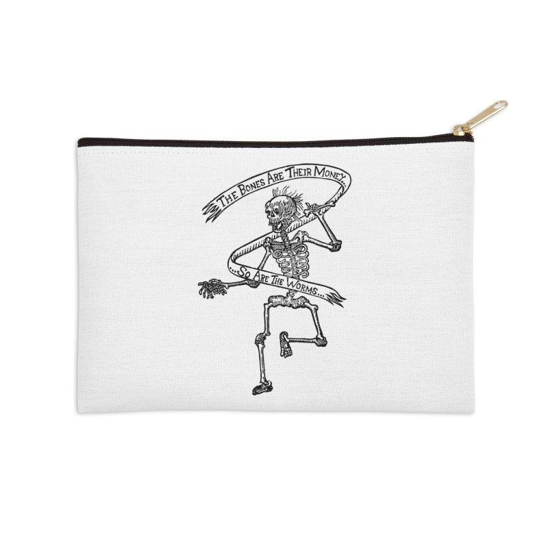 The Night the Skeletons Came to Life Accessories Zip Pouch by The Corey Press