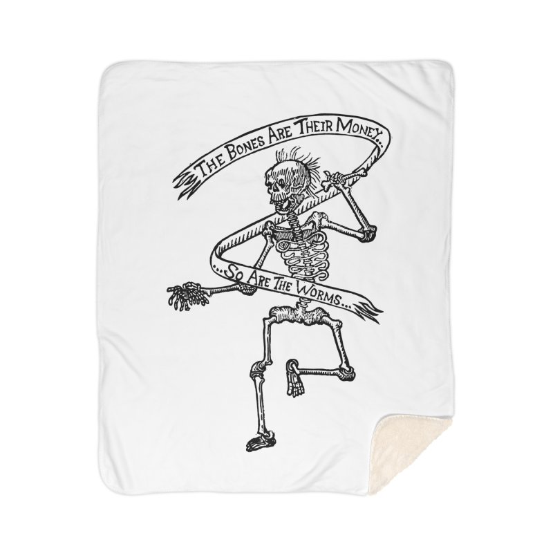 The Night the Skeletons Came to Life Home Sherpa Blanket Blanket by The Corey Press