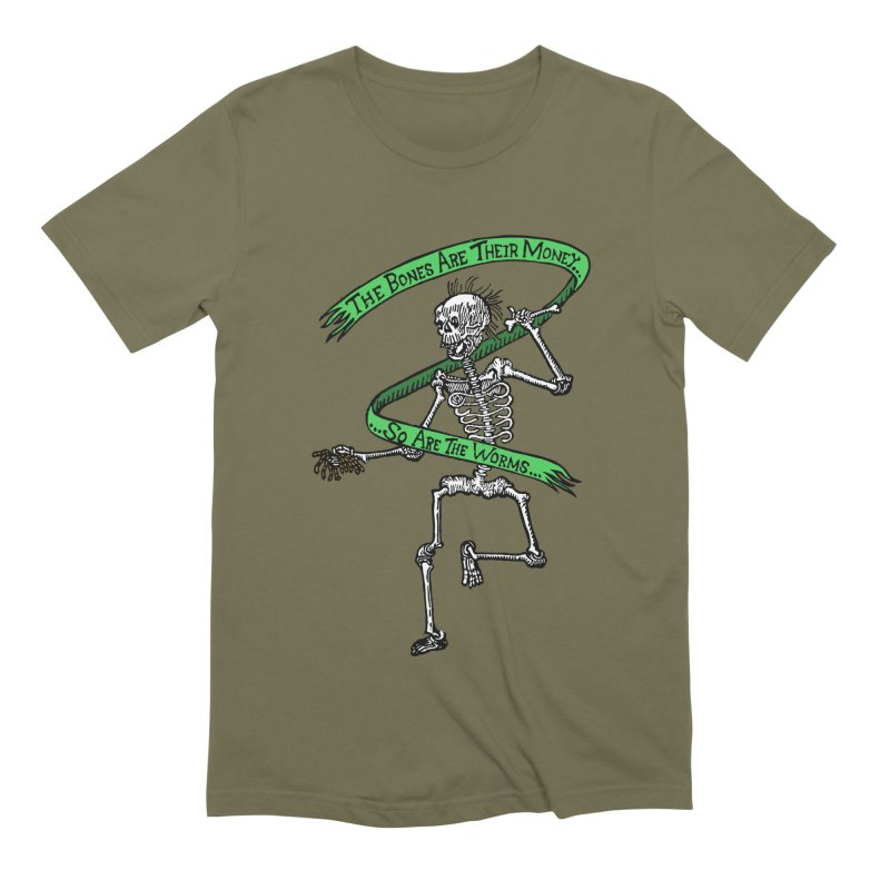 The Night the Skeletons Came to Life Men's Extra Soft T-Shirt by The Corey Press